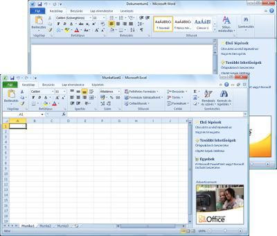 A Word Starter és az Excel Starter