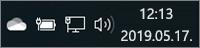 Fehér OneDrive-ikon a tálcán