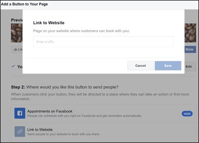 Képernyőkép: a foglalási lap URL-CÍMÉnek beillesztése