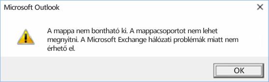 Outlook 2016-hiba – A mappa nem bontható ki.