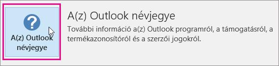Kattintson A(z) Outlook névjegye elemre.