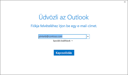 Üdvözli az Outlook