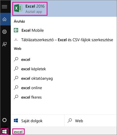 Windows 10-keresés indítása alkalmazások interneten való megtalálásához