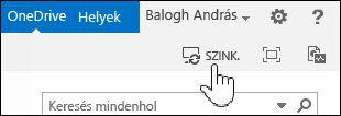 A OneDrive Vállalati verzió szinkronizálása a SharePoint 2013-ban