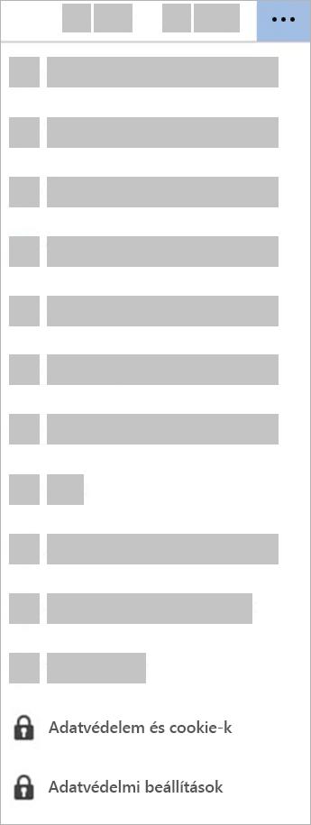 Az Adatvédelmi beállítások gomb képernyőképe