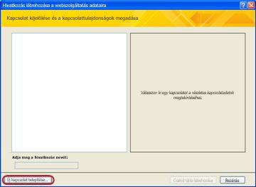 Webszolgáltatás-adatkapcsolat telepítése