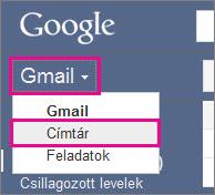 Google Gmail – kattintson a címtárra