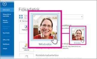 Az Office-fénykép módosítása az Outlookból