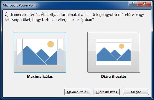 Ha a Maximalizálás lehetőséget választja, a tartalom egy része kilóghat a nyomtatási margóról, ahogy azt a bal oldali képen is láthatja.