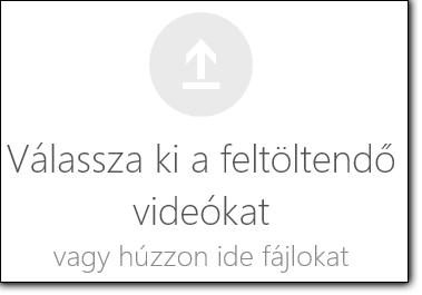 Az Office 365 videó, jelölje ki a feltöltendő videók