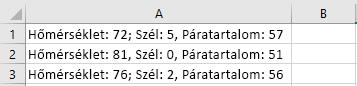 Cellák az Excelben