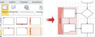 Tároló alkalmazása a gyűjteményből az egymással összefüggő alakzatok csoportosításához