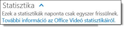 Statisztika az Office 365 Videó szolgáltatásban