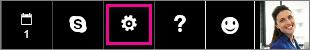 A Beállítások ikon választása