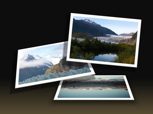 Egy kész,a PowerPoint alkalmazásban használható fényképalbumsablon
