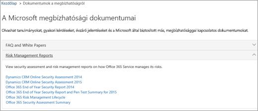 A szolgáltatásgarancia lapja: A Microsoft dokumentumai a megbízhatóságról