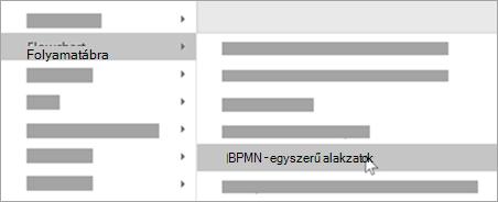 Hozzon létre BPMN egyszerű alakzatokat az alakzatokhoz.