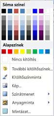 A WordArt alakzatkitöltési beállításai a Publisher 2010-ben