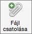 Gombra a fájl csatolása