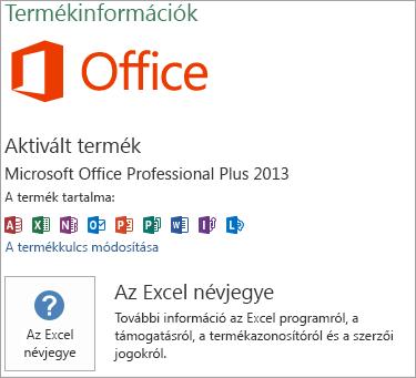 Az Excel MSI telepítése