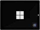 Az MS embléma képernyője a gyorsítótár újbóli létrehozásának folyamatjelző ikonjával