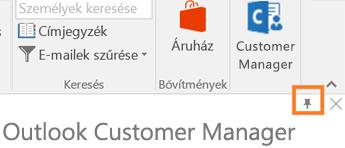 Az alkalmazás jobb felső sarkában lévő PIN-ikon