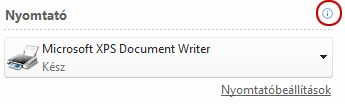 A nyomtató állapota a Publisher alkalmazásban