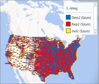 Térkép jelmagyarázattal