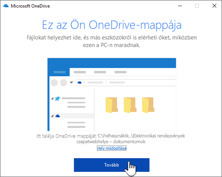 A képernyőn a helyi mappájának módosítása