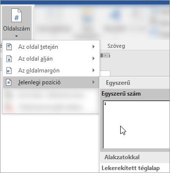 Képernyőkép megjelenítő, egyszerű formázás, oldalszámozás, az aktuális pozíciótól a dokumentum kiválasztása