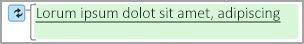Módosított szöveget jelző zöld kiemelés