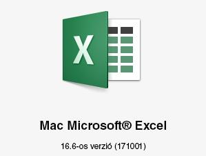 A 16.6-os verziójú Mac Microsoft Excel emblémája