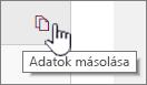 Az aktuális kijelző adatainak másolása az adatmásoló ikonra kattintva