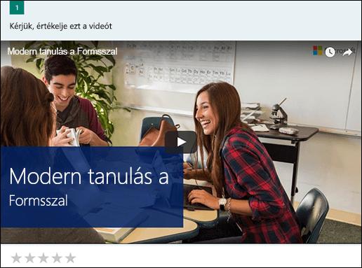 YouTube-videó mező beszúrása a Microsoft Forms
