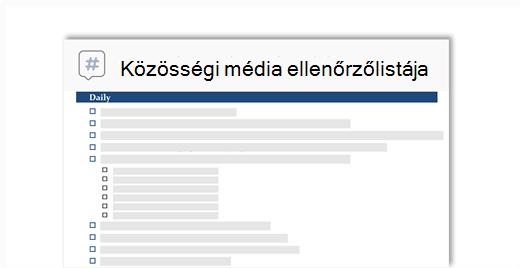 a közösségi hálózat feladatlista elvi képe