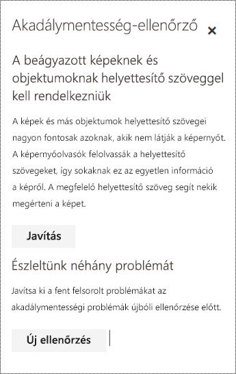 E-mail akadálymentességi problémáinak megkeresése a Webes Outlookban.
