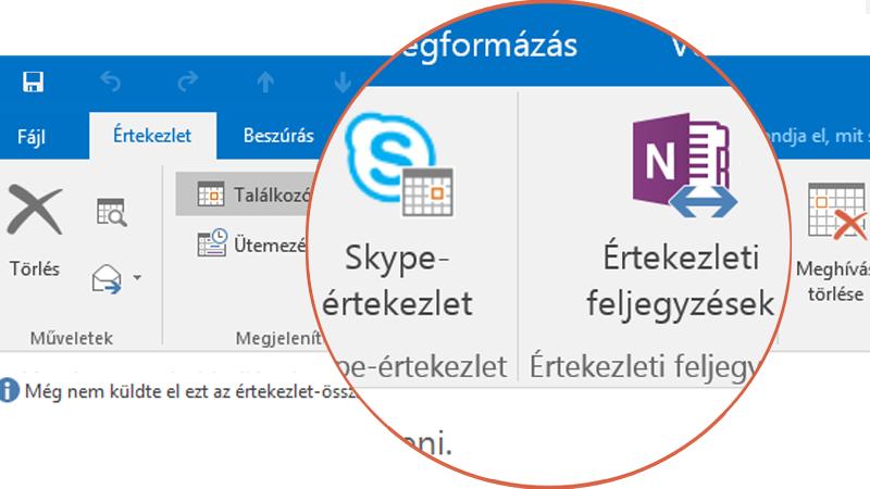 Együttműködés a Skype és a OneNote segítségével