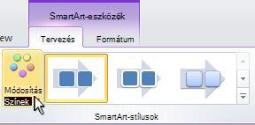A SmartArt-ábra színének módosítása