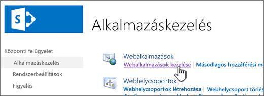 Nyissa meg a webhely beállításai