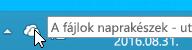 A fehér OneDrive ikont mutató képernyőkép a Windows 8.1-ben