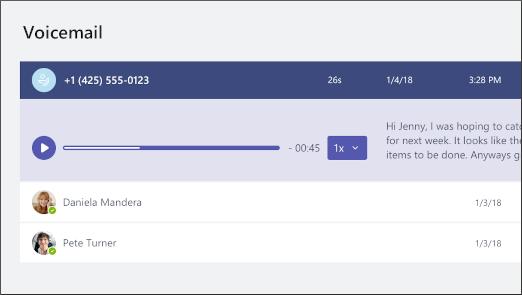 Képernyőkép a hangposta eléréséhez