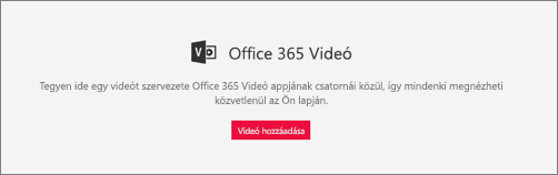Office 365 video-kijelző