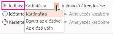 Animáció indítási időpontjának beállítása
