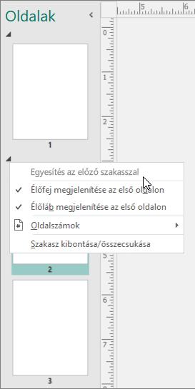 Képernyőkép a korábbi szakaszban lehetőség a körlevélkészítés mutató kurzor a kijelölt szakasz jeleníti meg.