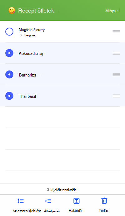 Képernyőkép: az áthelyezés menü iOS operációs rendszeren