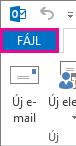 Az Outlook Fájl lapja