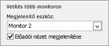 A PowerPoint 2010 monitorbeállításai