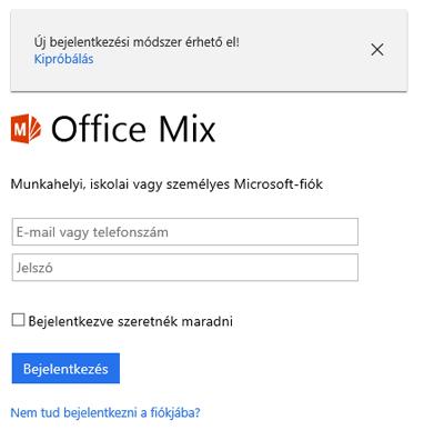 A rendszer kérni fogja, hogy jelentkezzen be az Office 365-ös fiókjával.