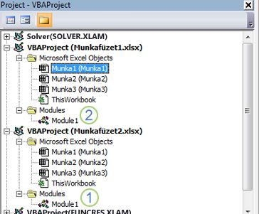 VBA Project Explorer