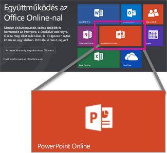 Válassza ki a PowerPoint online-ban